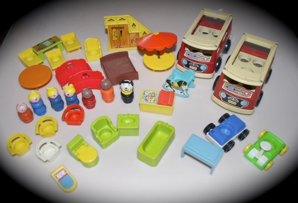 fisher price, little people, sesame street, wood, airplane, airport ...