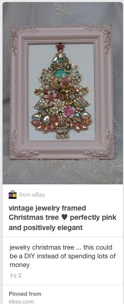 Framed Jewelry Christmas Tree Missbargainhuntress