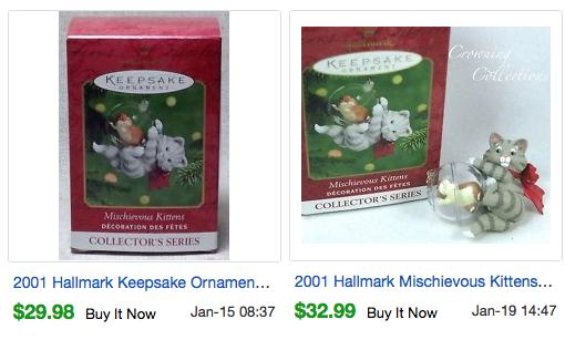 Most expensive valuable hallmark keepsake ornaments