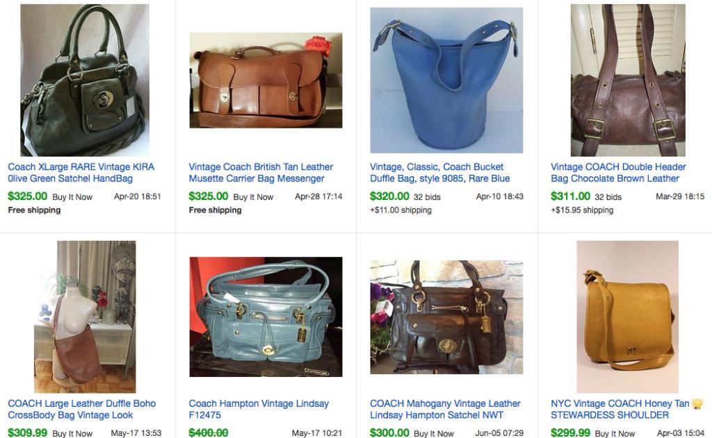 dfea279797 Slight imperfection Vintage Valuable Coach Bags MissBargainHuntress ...
