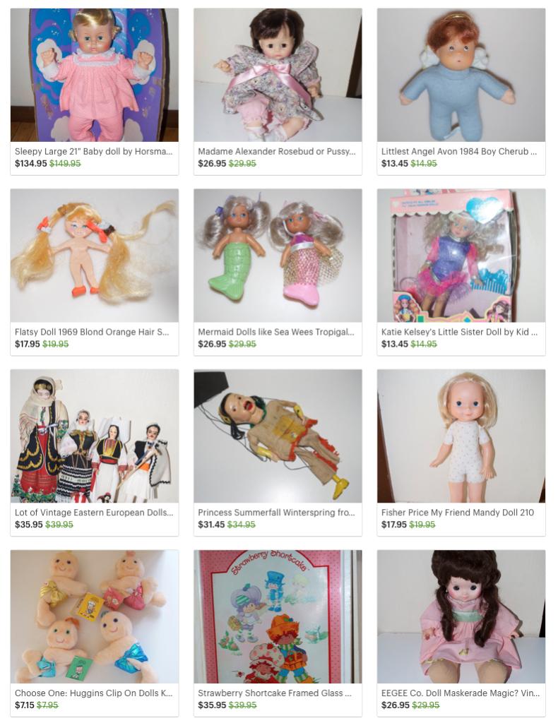 Vintage Cabbage Patch, Strawberry Shortcake, Barbie, Cher, Madame ...
