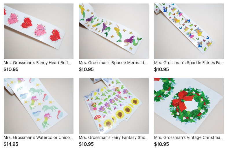 Mrs Grossman/'s LIMITED EDITION Sticker SPARKLE FANCY DINOSAURS Up to 20/% off